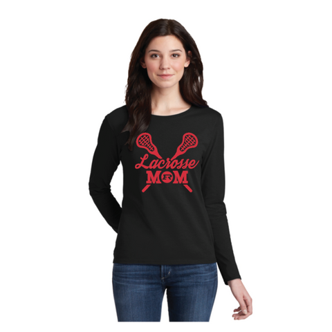 ELK RIVER LAX MOM COTTON LONG SLEEVE T-SHIRT BLACK