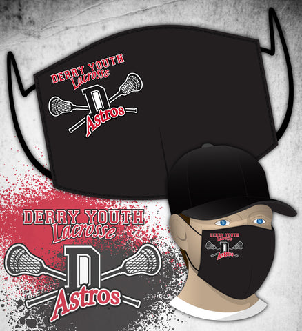 Derry Astros Lacrosse FUNDRAISER Face Mask