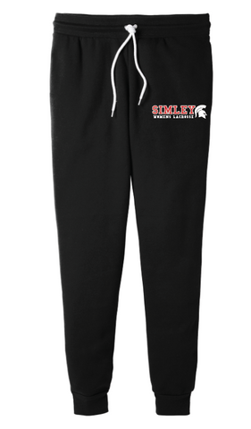 SIMLEY WOMENS LACROSSE BELLA CANVAS (UNISEX) JOGGERS-BLACK