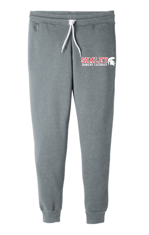 SIMLEY WOMENS LACROSSE BELLA CANVAS (UNISEX) JOGGERS-GREY