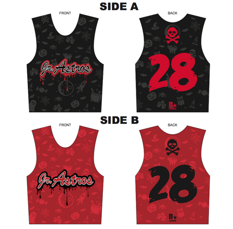 Jr. Astros Lacrosse SUBLIMATED Halloween Havoc Reversible - Black/Red