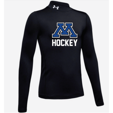 Minnetonka Hockey Youth Under Armour Mock Neck Black