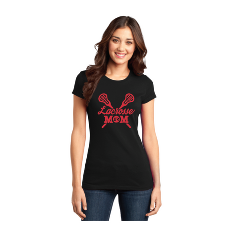 ELK RIVER LAX MOM FITTED T-SHIRT BLACK
