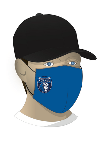 Hopkins Basketball FUNDRAISER Face Mask - Royal - Crest Logo