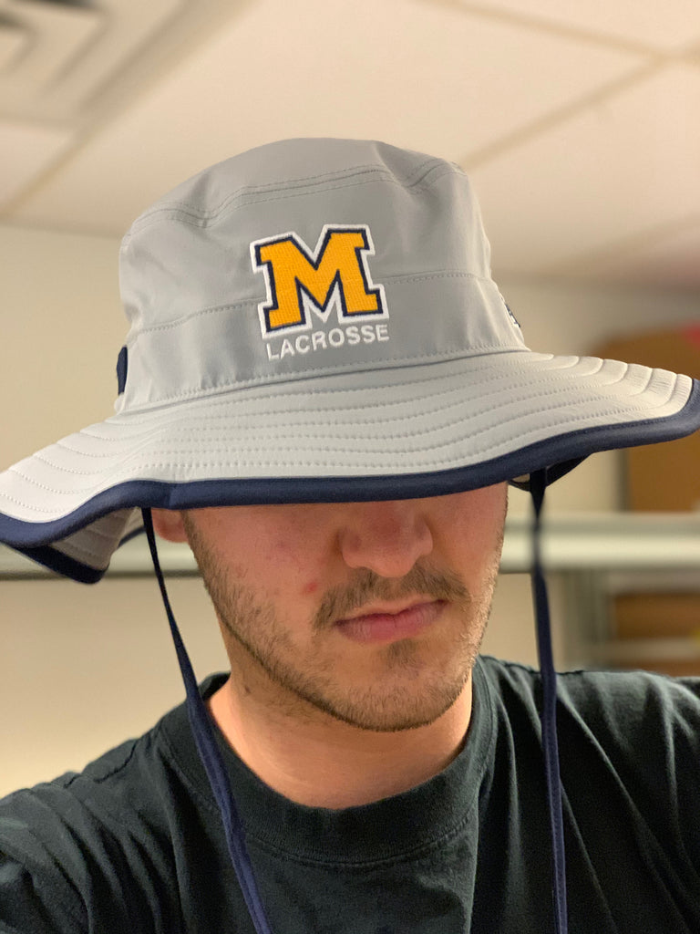 Mahtomedi Lacrosse The Game (Bucket Hat) Gray/Navy