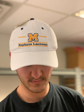 Mahtomedi Lacrosse The Game (Unstructured Twill Cap) - White
