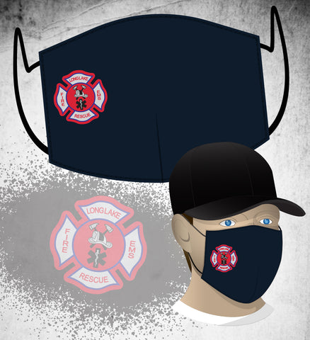 Long Lake FD Face Mask - Navy