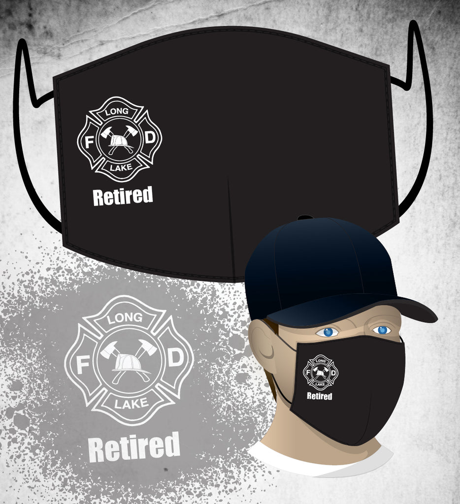 Long Lake FD Face Mask - Black (Retired)