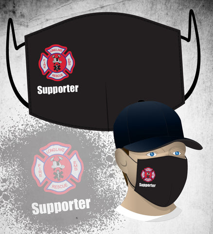Long Lake FD Face Mask - Black (Supporter)