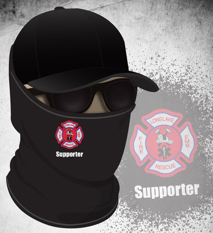 Long Lake FD Face Gaiter - Black (Supporter)