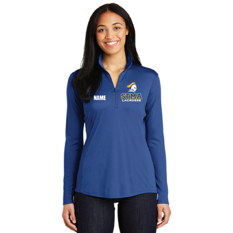 STMA Lacrosse Women's Sport-Tek (PosiCharge Competitor 1/4-Zip Pullover) Royal