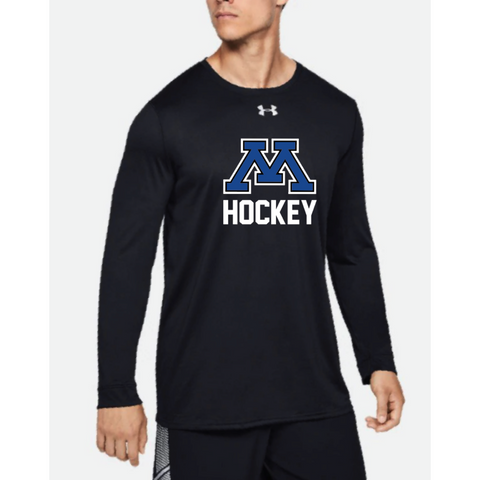 Minnetonka Hockey Adult Under Armour Locker Tee Long Sleeve Black