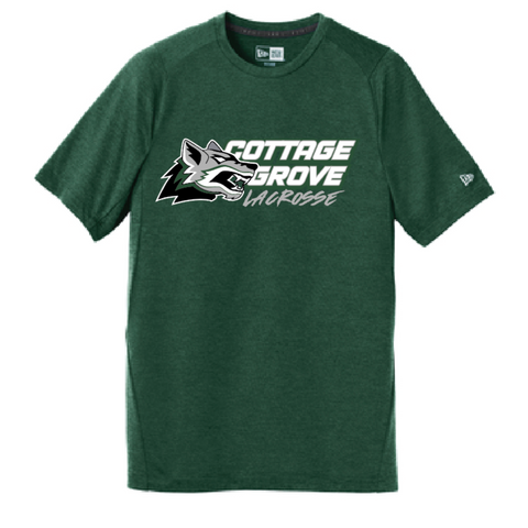 Cottage Grove Men's New Era (Series Performance Crew Tee) Dark Green