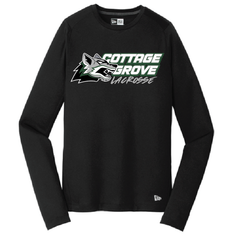 Cottage Grove Lacrosse Men's New Era (Series Performance Long Sleeve Crew Tee) Black