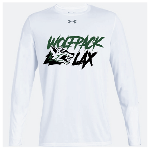 Cottage Grove Lacrosse Adult Under Armour (Locker Tee 2.0 LS) White