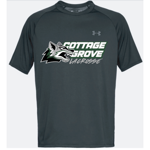 Cottage Grove Lacrosse Adult Under Armour (Tech Tee) Black