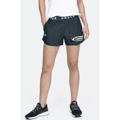 Cottage Grove Lacrosse Women's Under Armour (Play Up Shorts 3.0) Black