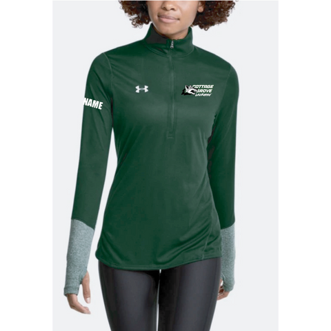 Cottage Grove Lacrosse Women's Under Armour (Locker 1/2 Zip) Forest Green