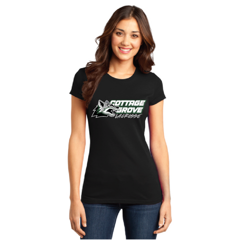 Cottage Grove Lacrosse Women's District (FITTED T) Black
