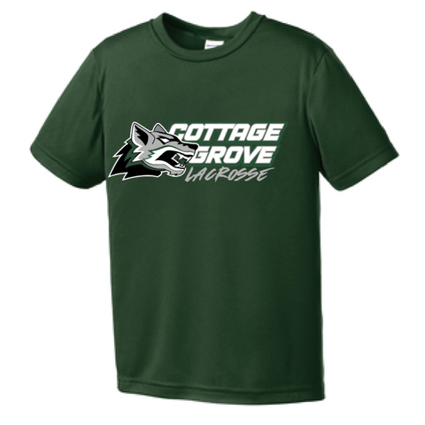 Cottage Grove Lacrosse Youth Sport-Tek (SS Competitor Tee) Green