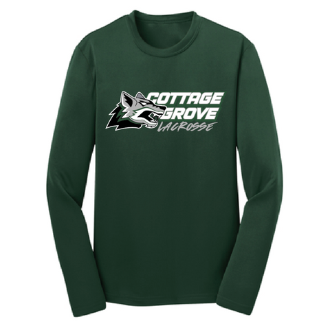 Cottage Grove Lacrosse Youth Sport-Tek (Competitor LS T) Green