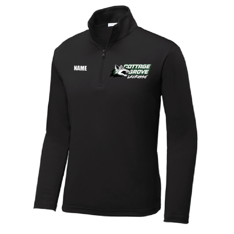 Cottage Grove Lacrosse Youth Sport-Tek (Competitor 1/4-Zip) Black