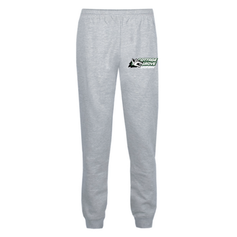 Cottage Grove Lacrosse Youth Badger (Athletic Fleece Jogger Pants) Gray