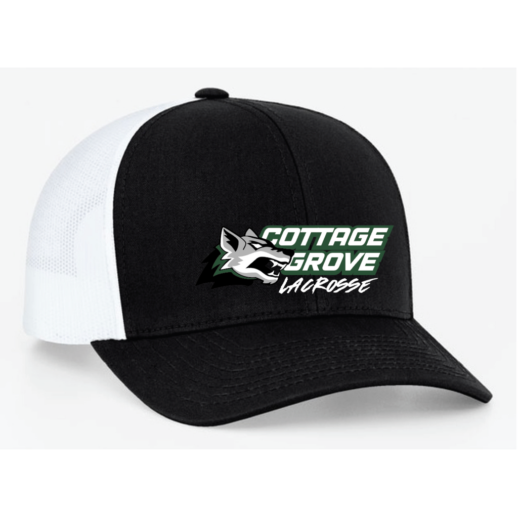 Cottage Grove Lacrosse Pacific Headwear (TRUCKER MESH) Black/white
