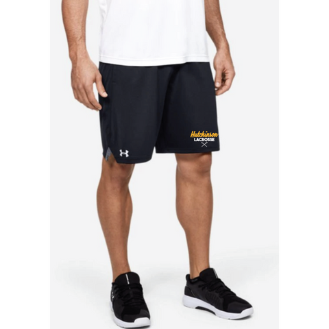 Hutchinson Lacrosse Men's Under Armour (Locker 9in Pckt Short) Black