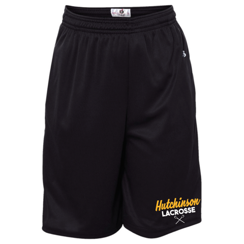 Hutchinson Lacrosse Youth Badger (B-Core Pocketed Shorts) Black