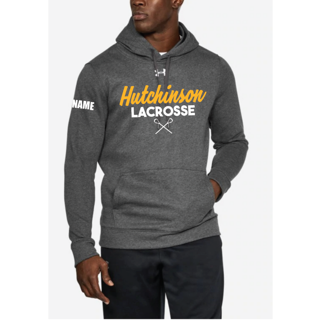 Hutchinson Lacrosse Men's Under Armour (Hustle Fleece Hoody) Gray