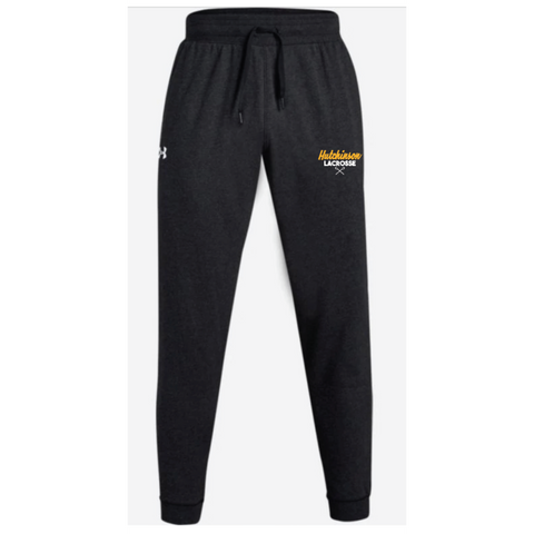 Hutchinson Lacrosse Men's Under Armour (Hustle Fleece Jogger) Black
