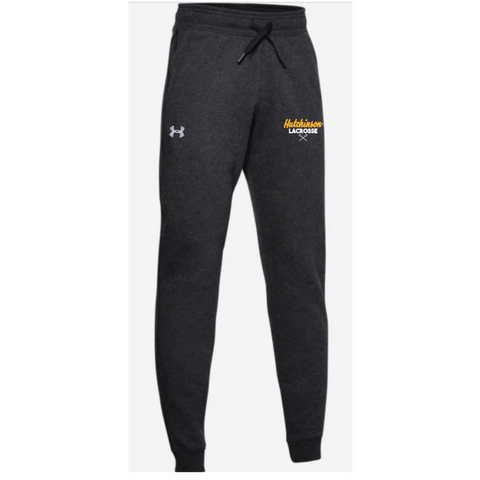 Hutchinson Lacrosse Youth Under Armour (Hustle Fleece Jogger) Black