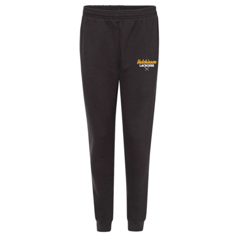 Hutchinson Lacrosse Men's Badger (ATHLETIC FLEECE JOGGER PANT) Black