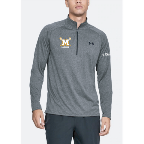 Mahtomedi Lacrosse Men's Under Armour (Tech 2.0 1/2 Zip) Gray