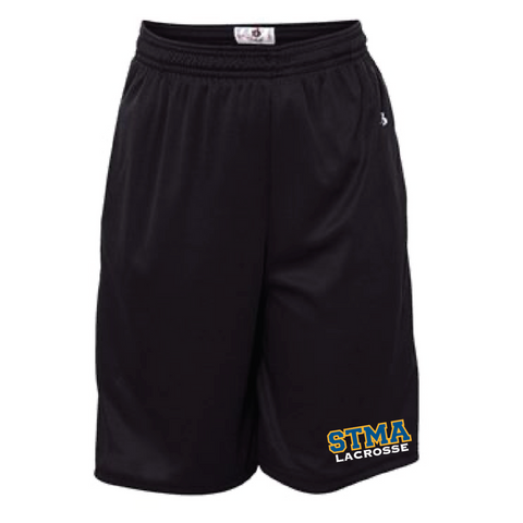 STMA Lacrosse Youth Badger (B-Core Pocketed Shorts) Black