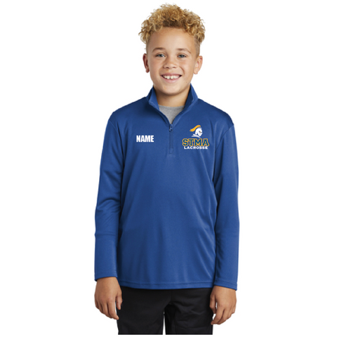STMA Lacrosse Youth Sport-Tek (PosiCharge Competitor 1/4-Zip Pullover) Royal