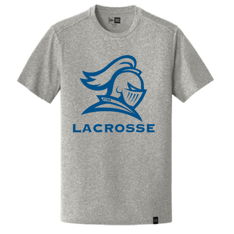 STMA Lacrosse Men's New Era (Heritage Blend Crew Tee) Light Graphite