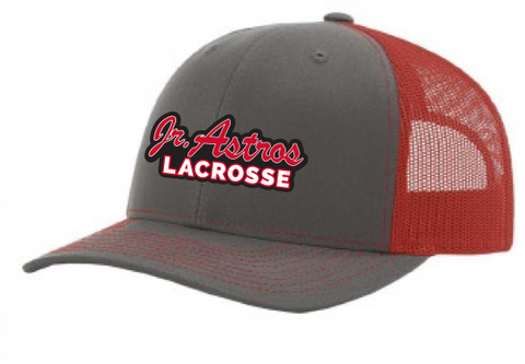 Jr. Astros Lacrosse Richardson (Mesh Back Adjustable Caps) Red/Heather Grey