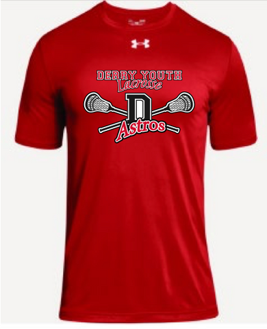 Derry Astros Lacrosse Adult Under Armour (Locker Tee) Red