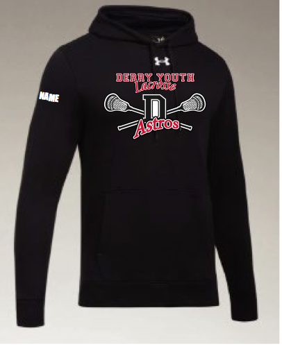Derry Astros Lacrosse Men's Under Armour (Hustle Fleece Hoody) Black