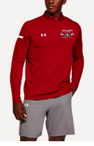 Derry Astros Lacrosse Men's Under Armour (Locker 1/4 Zip) Red