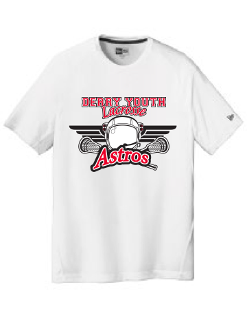 Derry Astros Lacrosse Adult New Era (Series Performance Crew Tee) White