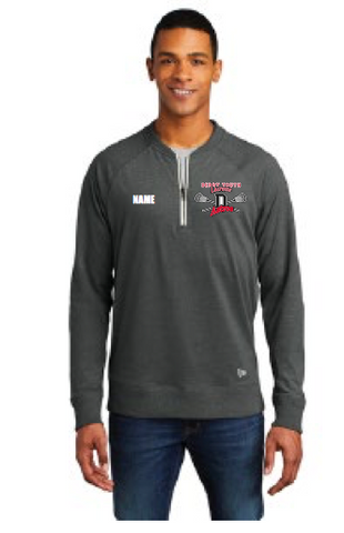 Derry Astros Lacrosse Men's New Era (Sueded Cotton Blend 1/4-Zip Pullover) Gray