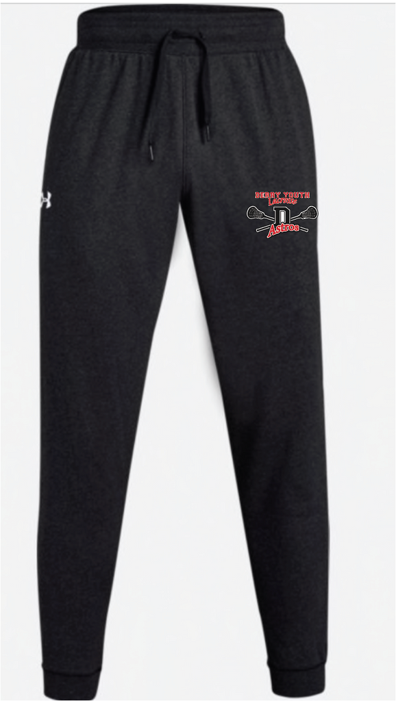 Derry Astros Lacrosse Men's Under Armour (Hustle Fleece Jogger) Black