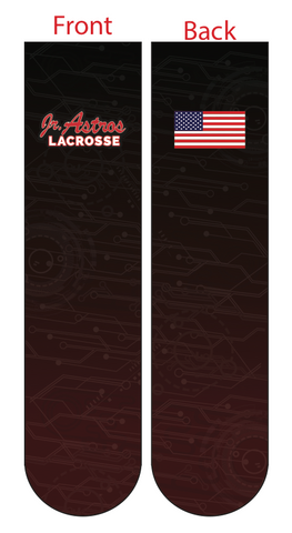 Jr. Astros Lacrosse SUBLIMATED SOCK - BLACK