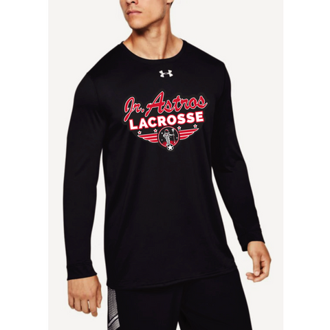Jr. Astros Lacrosse Men's Under Armour (Locker Tee 2.0 LS) Black