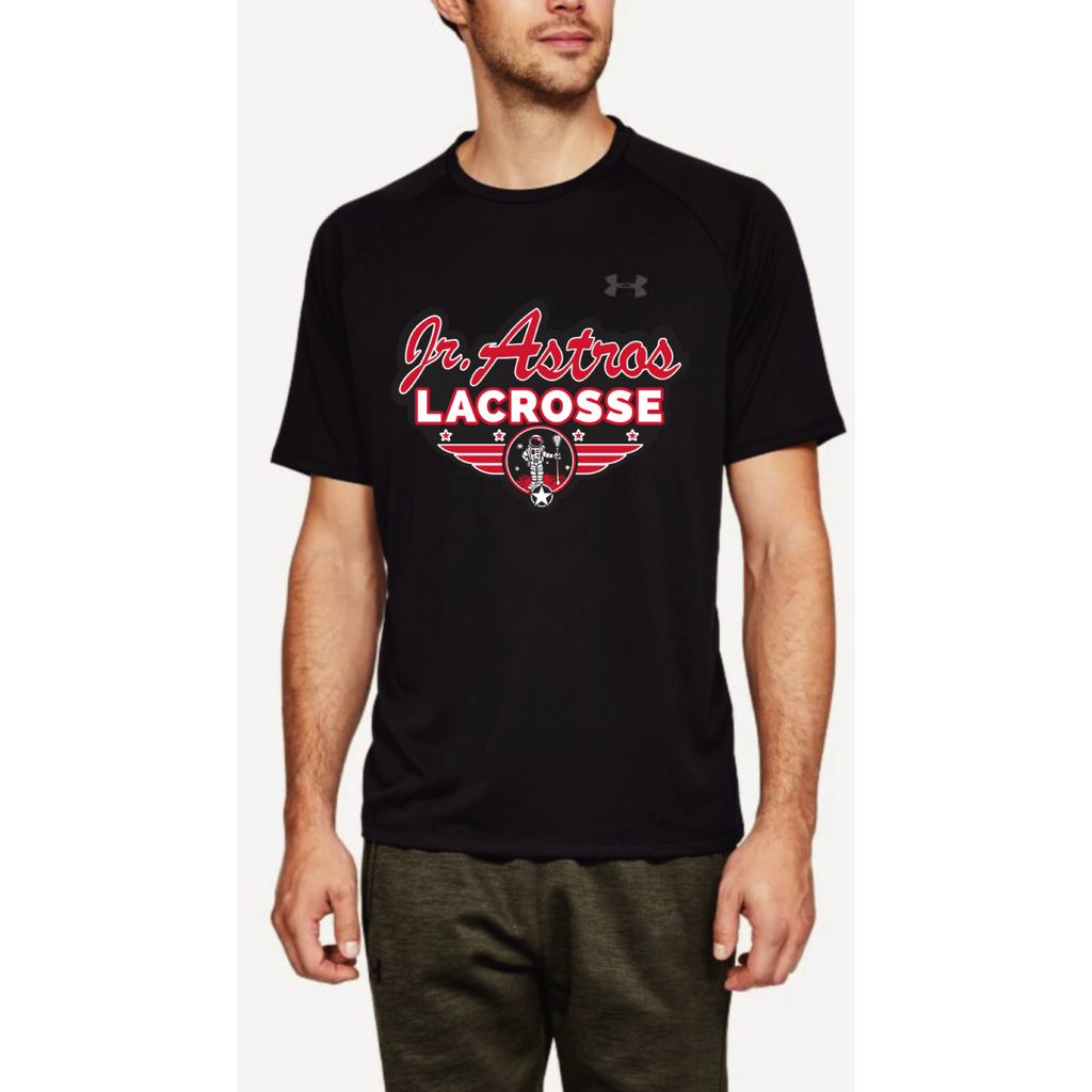 Jr. Astros Lacrosse Men's Under Armour (Tech Tee) Black