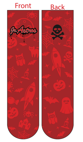Jr. Astros Lacrosse Halloween Havoc SUBLIMATED SOCK - RED