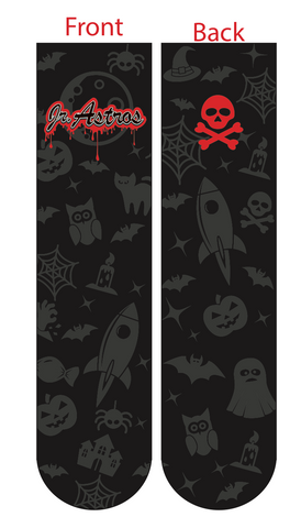 Jr. Astros Lacrosse Halloween Havoc SUBLIMATED SOCK - BLACK